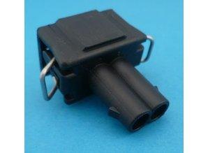 Delphi-2P-2G zwart 2-polig