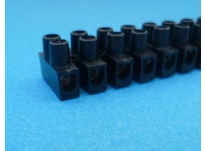 kroonsteenstrip zwart 2,5 mm2