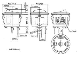 schakelaar met 'ventilator' symbool 12-24V