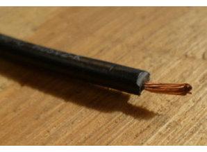 0,75 mm2 draad zwart 100m