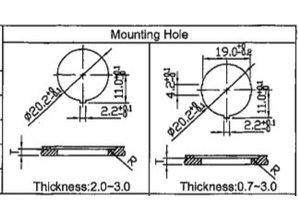 schakelaar met symbool 'toeter' 12-24V