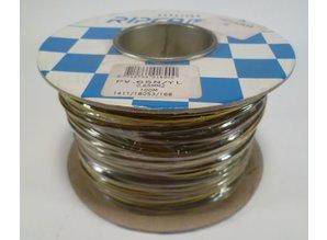 0.65 mm2 bruin/geel 100 meter