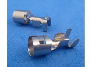 Glaszekeringkontakt 2-3 mm2 vernikkelt  10 stuks