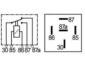 2032 Relais wissel 12V 40/30A