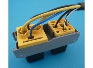 R01490 relaisvoet voor 1x mini + 1 x maxi- relais