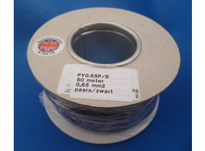 Draad 0.65 mm2 paars/zwart