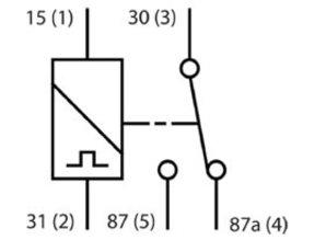 TR12V25S/off tijdrelais 25 sec