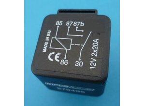 279495 Relais dubbel kontakt  12V 2x20A
