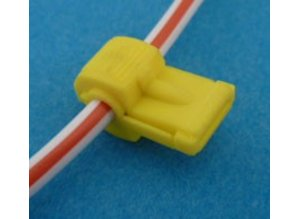 K953 stekker snijverbinder geel