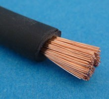 accukabel 25 mm2 zwart