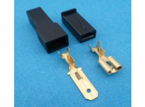 MC1BZ connector 1 polig zwart 10 stuks