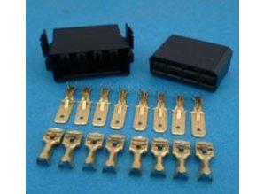 MC8B connector 8 polig zwart