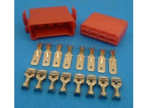MC8R connector 8 polig rood