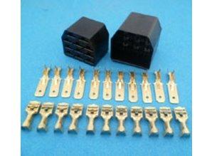 MC11B connector 11 polig zwart