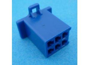 HCF6U 6 polig blauw 10 stuks