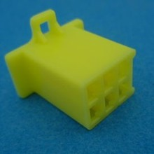 HCF6Y 6 polig geel 10 stuks