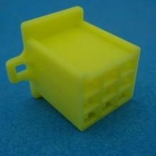 HCF9Y 9 polig geel 10 stuks