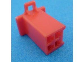 HCF4R 4 polig rood 10 stuks