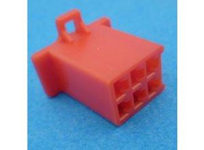 HCF6R 6 polig rood 10 stuks