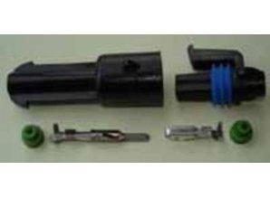SEAL1B komplete waterdichte stekker 2.8 mm 1 polig