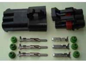 SEAL3B komplete waterdichte stekker 2.8 mm 3 polig
