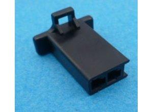 HCF2B 2 polig zwart 10 stuks