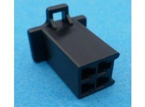 HCF4B 4 polig zwart 10 stuks
