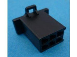 HCF6B 6 polig zwart 10 stuks