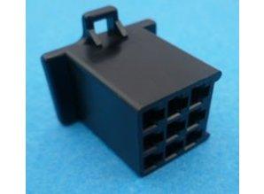 HCF9B 9 polig zwart 10 stuks