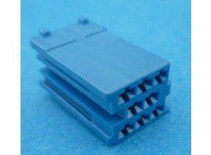 560816 mini ISO stekker 8 polig blauw