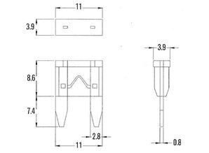 mini steekzekering 25A MIF25