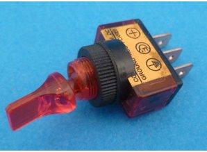 E136R aan/uit verlicht rood