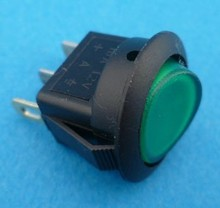 E723 aan/uit groen verlicht