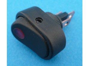 E474RS aan/uit rood verlicht