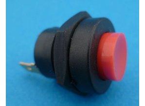 PBS0102RED drukknop zwart/rood