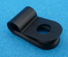 "X0 3.2 mm 1/8""  P-clip PVC"