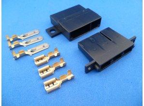 MMC3B connector 3 polig zwart montage