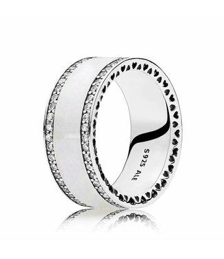 Pandora ring Pearlescent Hearts of Pandora Band 191024EN23