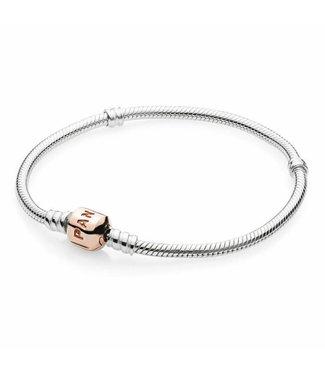 Pandora silver bracelet with Pandora Rose clasp 580702
