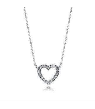 Pandora Loving Hearts of Pandora necklace 590534CZ