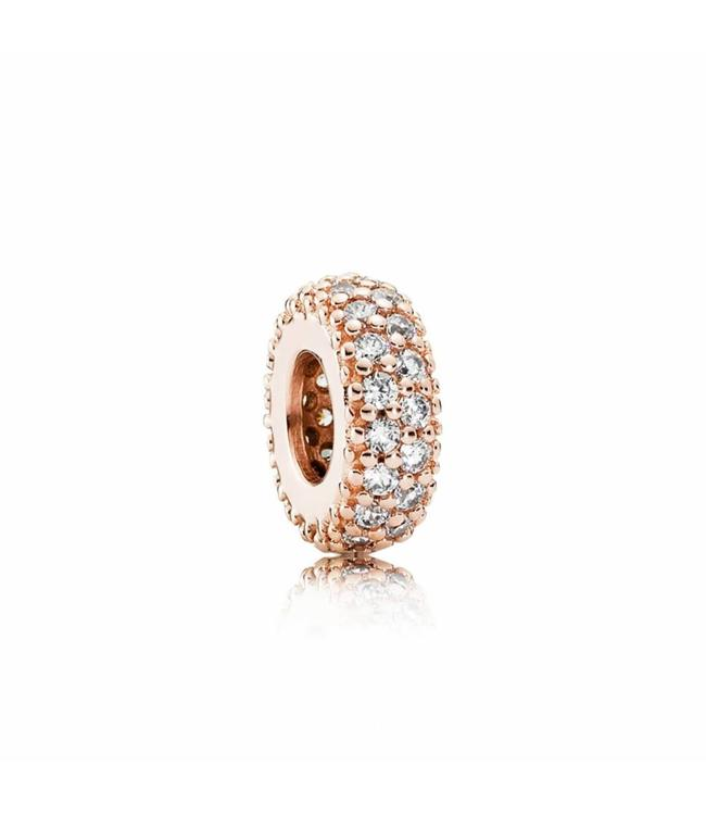 Pandora Abstract Rose pave spacer with clear cubic zirconia 781359CZ