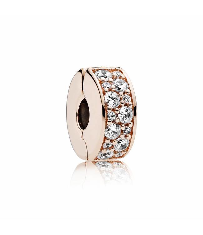 Pandora Shining Elegance Rose clip 781817CZ