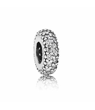 Pandora Abstract silver spacer with cubic zirconia 791359CZ