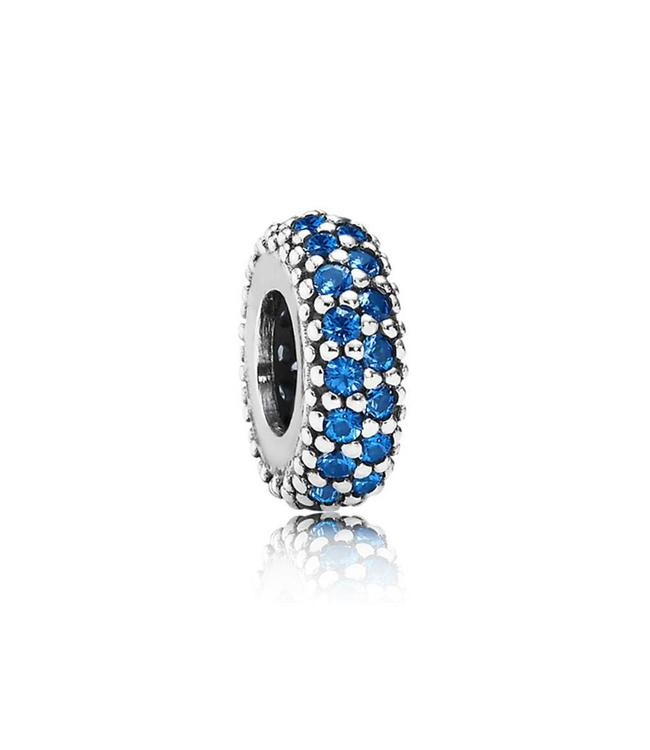Pandora Abstract silver spacer with blue crystals 791359NCB