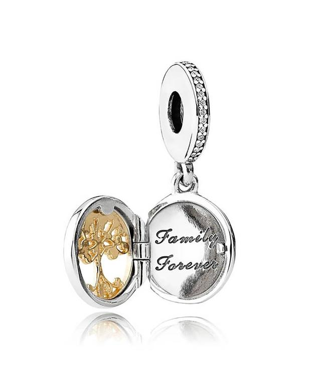 Pandora Family Roots pendant with 14k 791988CZ