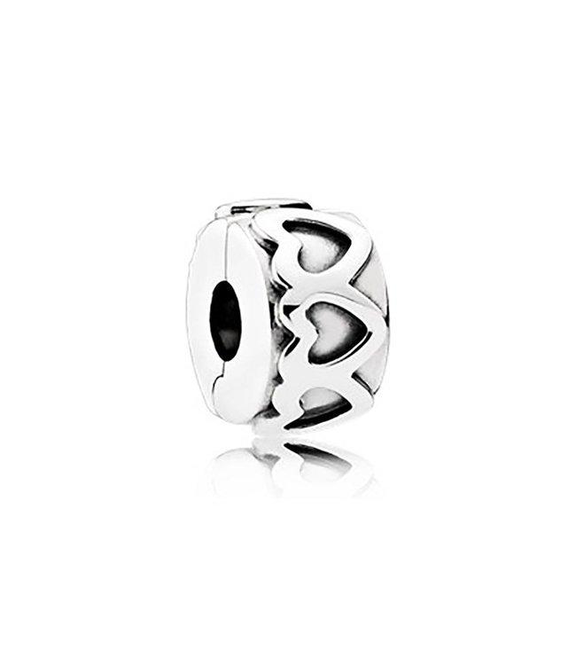Pandora Heart silver clip 791978