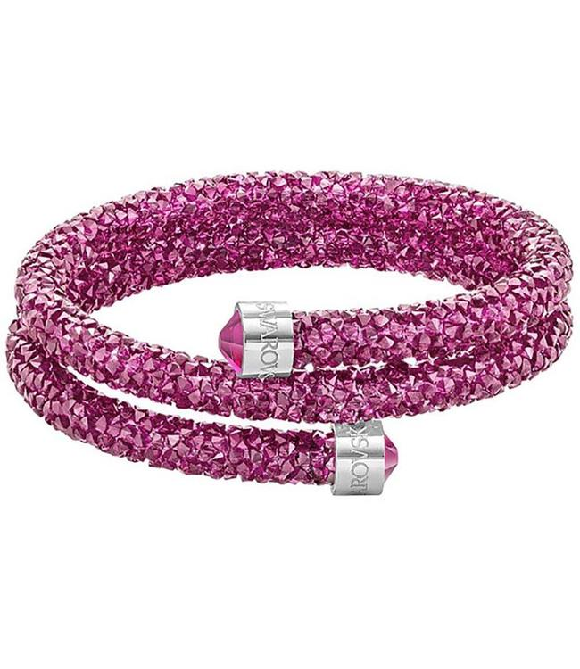 Swarovski Crystaldust Double Bangle Pink