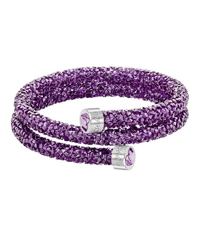 Swarovski Crystaldust Heart Double Bangle Purple