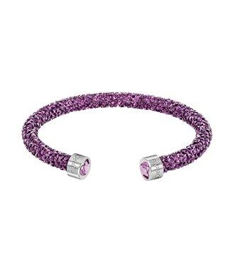 Swarovski Crystaldust Heart Cuff Purple