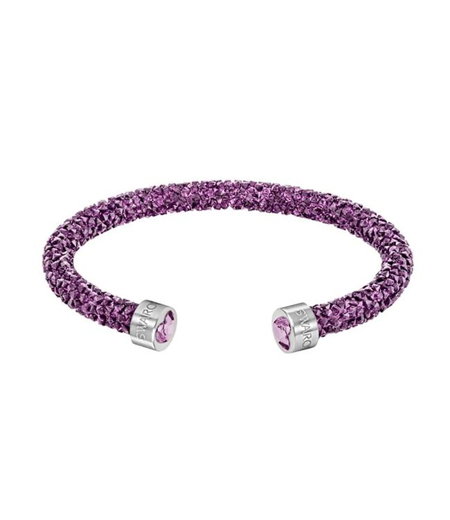 Swarovski Crystaldust Heart Cuff Purple